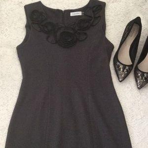 Calvin Klein gray midi dress